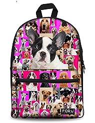 HUGS IDEA Cute Children School Bag Canvas Backpack for Kindergarten Toddler