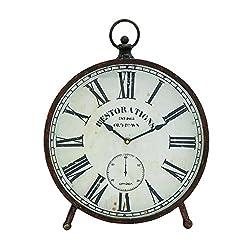 Plutus Brands Exclusive Marcus Metal Table Clock