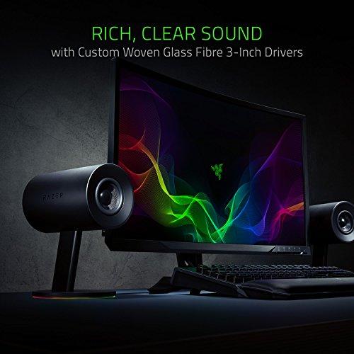 Razer Nommo Chroma - Computer Speakers, Rear Bass Ports for Full Range Gaming & Sound Immersion - Custom Woven Glass Fiber 3'' Drivers by Razer (Image #2)