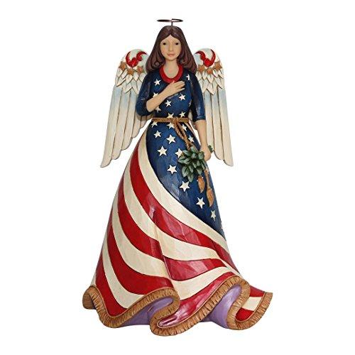 Enesco Jim Shore Heartwood Creek Patriotic Angel w/Flag Dress