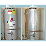 HOT WATER HEATER JACKET ENERGY SAVING REFLECTIVE Foam FOIL Fits up to 80 Gallon