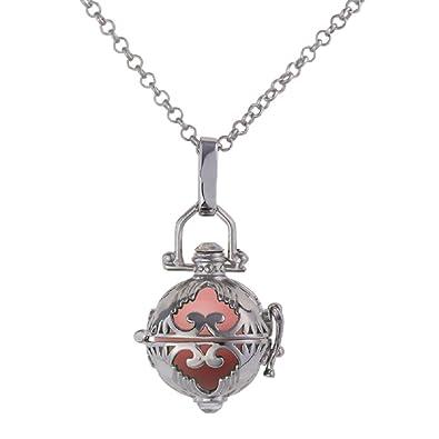 Luxus Engelsrufer mit Kugel Halskette + Klangkugel Kette Amulett Harmony  Ball Anhänger Kossberg (Rosa) ec18d4ef99