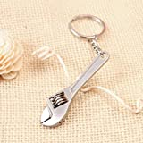 1Pcs Distinguished Popular Wrench Spanner Keychain Adjustable Tool Keyfob Mini Useful Color Silver