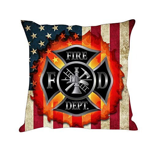 Hexagram Firefighter Throw Pillow Covers Home Decorative American Flag Throw Pillowcases Couch Cases 18