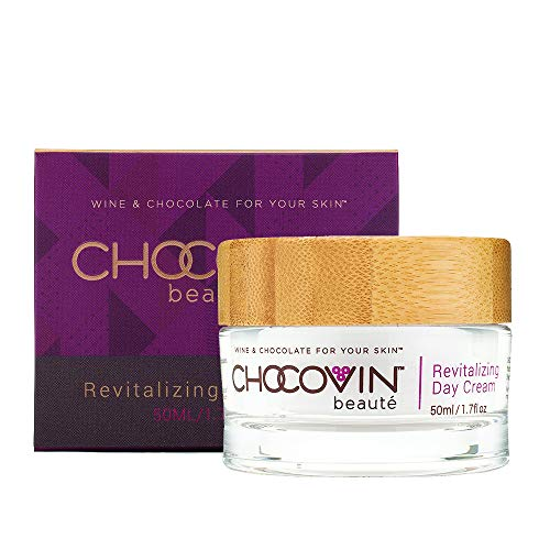 Chocovin Revitalizing Day Cream – Anti-Aging Face Cream with SPF – Collagen Cream – Made with Hyaluronic Acid, Resveratrol, Epigallocatechin Gallate, and Fruit Extracts 1.7 oz 50mL