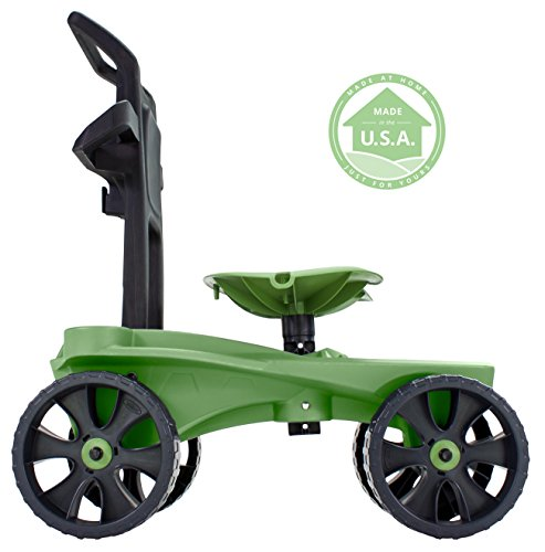 easy up deluxe xtv rolling seat and scoot gardening