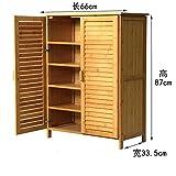 Wooden shoe cabinet simple multi-shoe rack bamboo shoe rack solid wood,simple modern,shoe rack entrance multifunctional storage cabinet shoebox-B