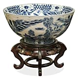 China Furniture Online Porcelain Bowl, Blue and White Canton Style Pattern