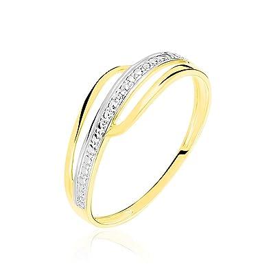 ac112dddfec HISTOIRE D OR - Bague Or et Diamant - Femme - Or jaune 375 1000-50 ...