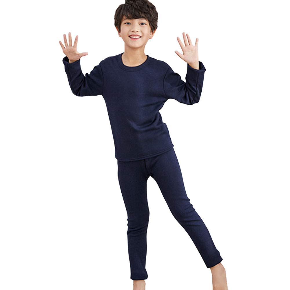 M/&A Girls Boys Thermal Underwear Long Johns Set Pajama with Fleece Lined Size 6-16