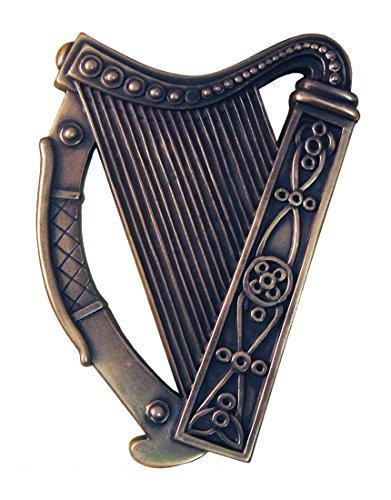 - Royal Tara Bronze Plated Wall Plaque with Irish Harp Design 16cm X 13cm