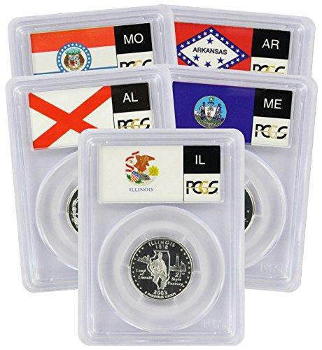 2003 S Silver State Quarter Set PCGS PR69DCAM (Alabama State Quarter)