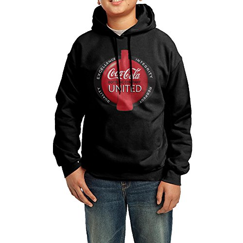 daboru-cocacola-bottling-logo-boys-and-girls-hooded-sweatshirt-black