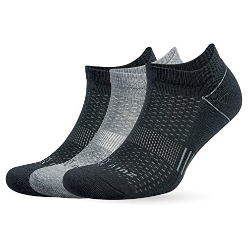 Balega Zulu No Show Socks for Men and Women (3 Pairs), Grey, X-Large by Balega (Image #1)