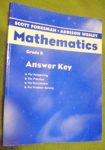Mathematics Grade 6 Answer Key Paperback 2008