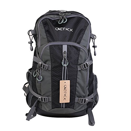 ONEPACK-Water-Proof-Hiking-Backpack-D401P-40L-Camping-Traveling-Backpacking-Packs-for-Outdoor-Sports-Cycling-Mountaineering-ClimbingBlack