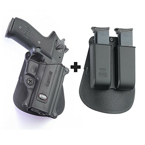 Fobus MOS Paddle Black Concealed Carry Holster Sig/Sauer Mosquito + 6922 Double Magazine Pouch