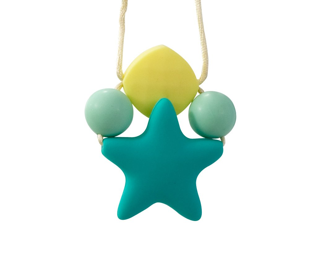 Stimtastic Chewable Silicone Star Pendant Necklace Nontoxic BPA and Phthalate Free, Turquoise by Stimtastic   B010ULUU7G