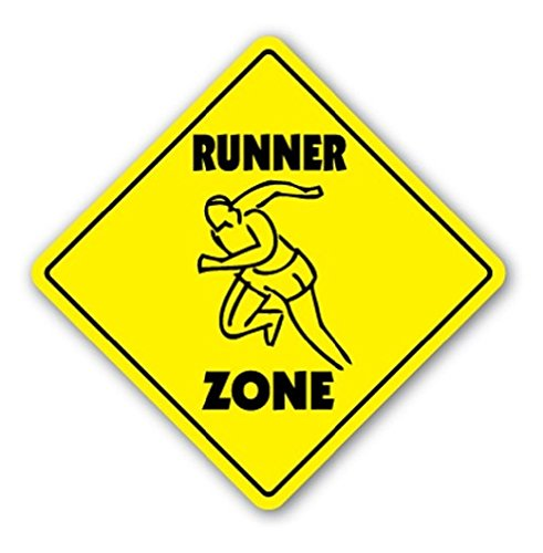RUNNER ZONE Sign Xing Gift Novelty Shoes Shorts Sweat Bands Cardio Equipment - Sticker Graphic - Auto, Wall, Laptop, Cell Sticker