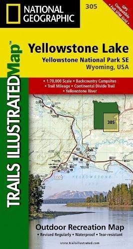 Yellowstone Lake: Yellowstone National Park SE (National Geographic Trails Illustrated Map)