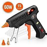 Pistola a Caldo Per Colla, ABOX Pistola Colla a Caldo 60 Watt con 15 Stick di Colla per Progetti Artigianali, Imballaggio, Uso Domestico