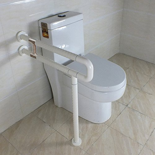 IBAMA R Shape Toilet Safety Frame Rail Shower Grab Bar for Home and Hotel(Stainless Steel Coated With White Nylon) - Rail Style Grab