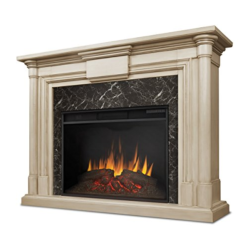 Real Flame 8030E-WW Maxwell Grand Electric Fireplace, Large, Whitewash