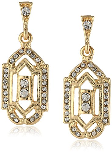 - Downton Abbey Gold-Tone Crystal Post Drop Earrings