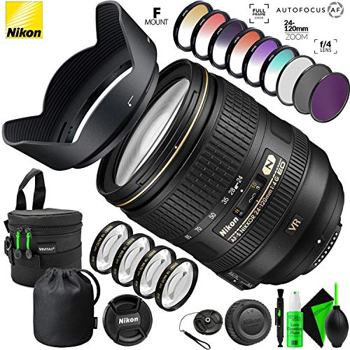 Nikon AF-S NIKKOR 24-120mm f/4G ED VR Lens with Creative Filter Kit and Pro Cleaning Accessories