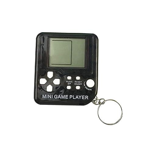 Womdee Mini Tetris - Llavero de Jugador de Juego, Consola de Juego portátil con 26 Juegos, 26 en 1, Pantalla LCD de Bolsillo, Reproductor de Juego ...