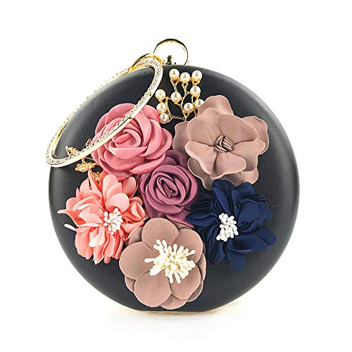 Floral Vovotrade De Mariage Noire Femme Pochette Minaudière Banquet FwXwn1qT