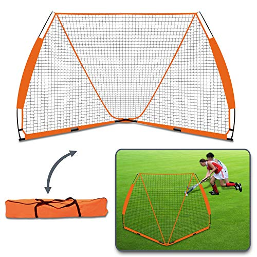 BenefitUSA Portable Lacrosse Goal Easy Setup Folding Goal 6x6' w/Carry Bag