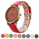 YANG-YI Retro Vogue Wristwatch Cowboy Leather Band Analog Quartz Round Wrist Watch
