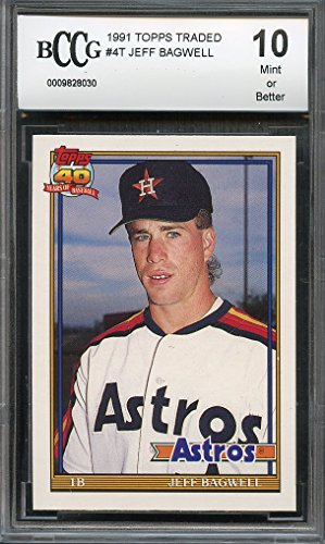 1991 topps traded #4t JEFF BAGWELL houston astros rookie ...