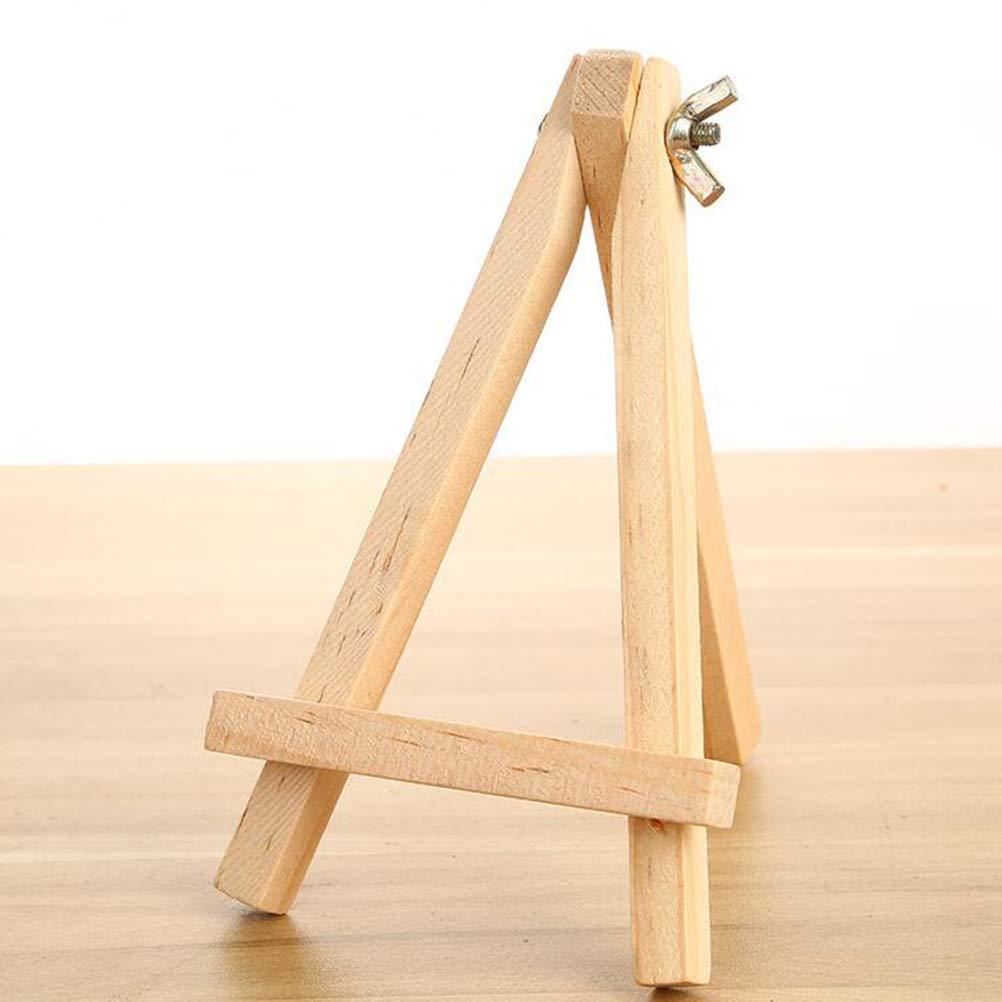 STOBOK Kleines Dreieck Rahmen Holz PortableTripod Stehen Staffelei Tabletop Tischkalender Display St/änder Bilderrahmen Halterung 6 st/ücke // 9x15 cm