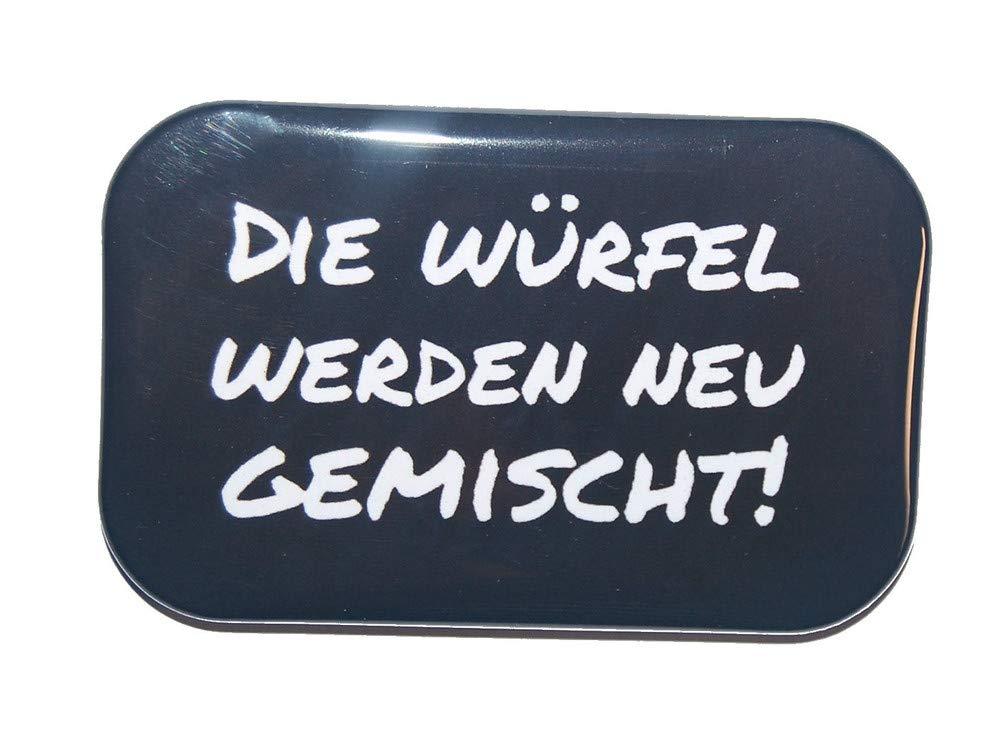 7 x 4,5 cm Motiv Button Ansteckbutton Rechteckig eckig gro/ß ca Spruch Lustige verdrehte Redewendungen