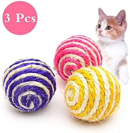 Milopon 3 x gato juguete Cat Scratch pelota juguete Catch The ...