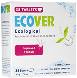 Ecover Automatic Dishwasher Tablets, 17.6 Ounce -- 12 per case.
