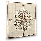 Navigation Compass CANVAS Wall Art Home Décor
