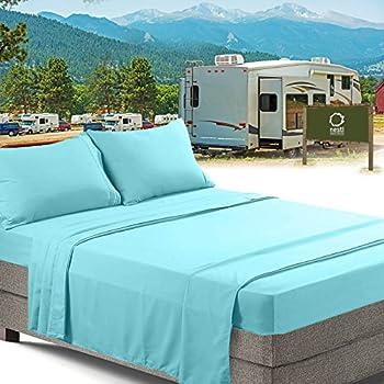 Amazon Com Rv Short Queen Bed Sheets Set Bedding Sheets