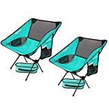 2 Pack Lightweight Folding Camping Backpack Chair, Compact & Heavy Duty Portable Chairs