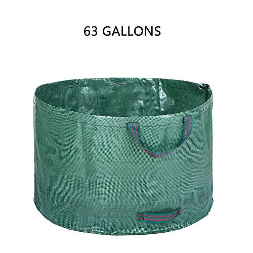 AloPW Yard Waste Bags 63 Gallons Garden Grow Bag Garden Bag Reusable Gardening Bag Leaf Waste Bags Waste Sack Yard Waste Bags