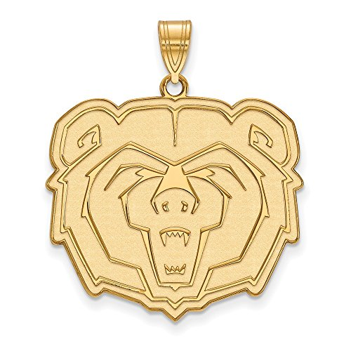 10k Yellow Gold LogoArt Official Licensed Collegiate Missouri State University (MSU) XL Pendant by Logo Art