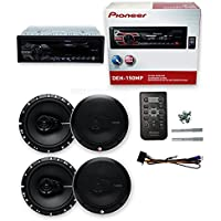 Pioneer DEH-150MP+ 4) R165X3 6.5 180W 3 Way Car Speaker(2 PAIRS)