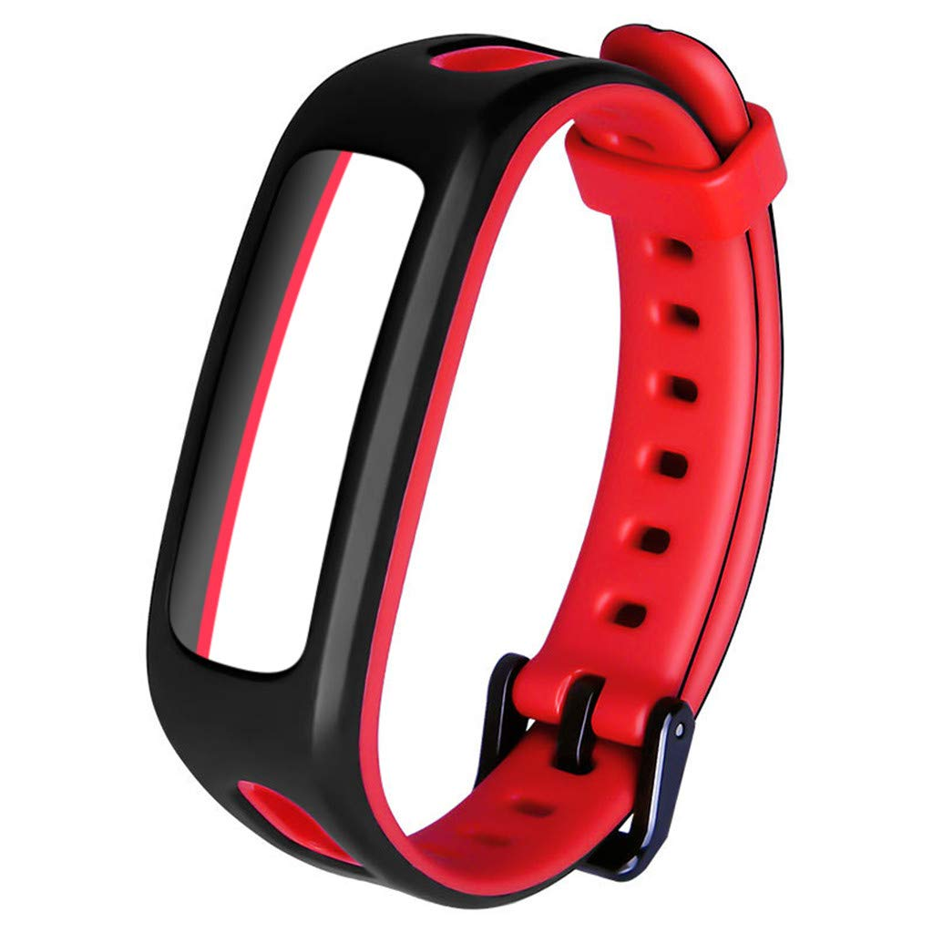 for Huawei Honor 4 Watch Band Bracelet Replacement Sport Silicone Strap Wirstband Bands for Huawei Honor 4 Smart Watch (B)