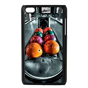Special Designer Strike Bowling Pins Ipod Touch 4 Case, Snap on Protective Bowling Ipod 4 Case