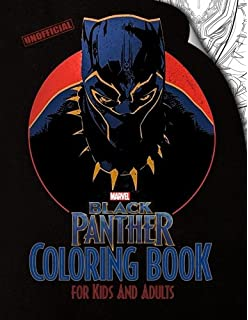 Black Panther Coloring Book For Kids And Adults Based On The Marvel Movie