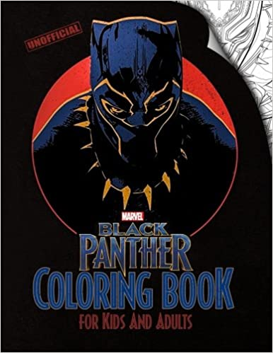 Amazon.com: Black Panther Coloring Book for Kids and Adults: Based ...