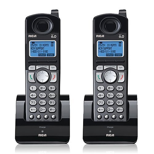 - RCA 25055RE1 Dect 6.0 Cordless Expansion Handset 2-Line Landline Telephone - 2 Pack