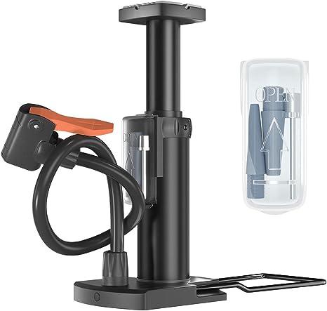 Basketball High Pressure Mini Bicycle Pump Ball Tire Inflator W// Needle Pump